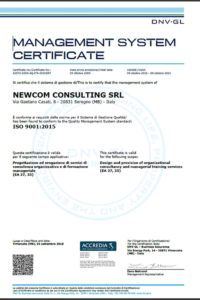 Newcom Consulting - ISO9001